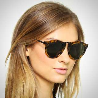 Karen Walker Harvest Crazy Tort Sunglasses