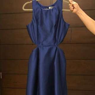 Manjiu Navy BLue Long Gown Formal Wear medium