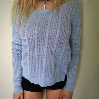 XS Blue Knit