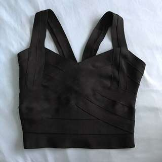 Black Bandage Crop