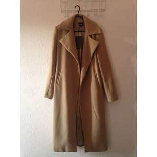 Missguided Long Camel Coat