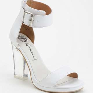 Jeffrey Campbell White Soiree Heels