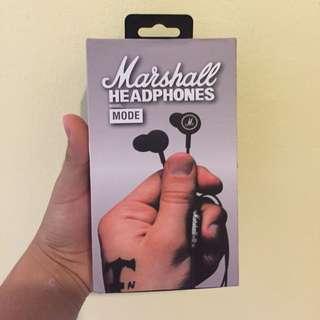 Marshall In-Ear Mode Earphones Headphones Earbuds Microphone- Black (sealed)
