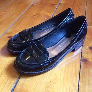 Midas Black Patent Leather Loafers