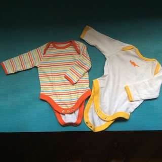 (New) Mothercare Long sleeve Rompers