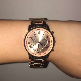 Rose Gold Roman Numeral Watch