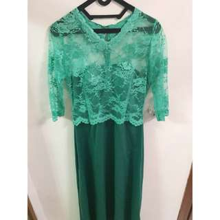 Long Dress Hijau