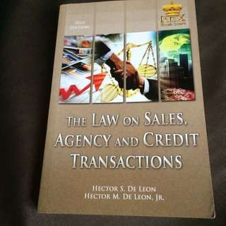 The Law On Sales, Agency, And Credit Transactions