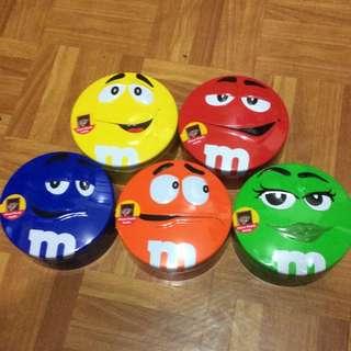 M&M 巧克力圓形鐵盒