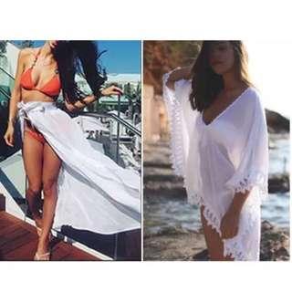 Wrap Beach Skirt And Beach Overthrow