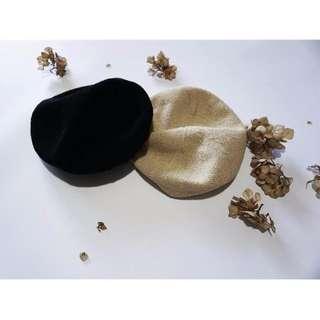 草編款貝蕾帽