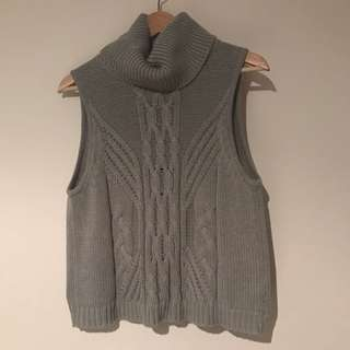 ALL ABOUT EVE Grey Knit Turtle Neck Top