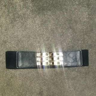 Black Belt With Gold And Silver Diamantes