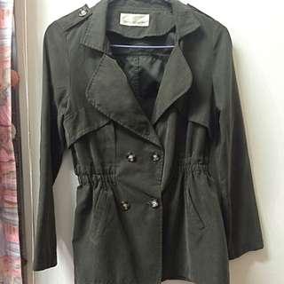 絨材質厚風衣外套