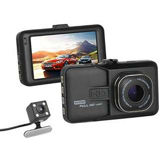 T636 New Dual Camera Car Dvr HD 1080p Full Alloy Body 3.0″ LTPS LCD Display Dash Cam Front Back Dual Lens 170 Degree Motion Detect Loop Recording Parking Monitor