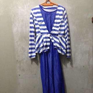 Long Dress With Cardi