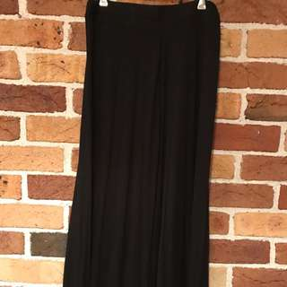 Black Supre Maxi Skirt
