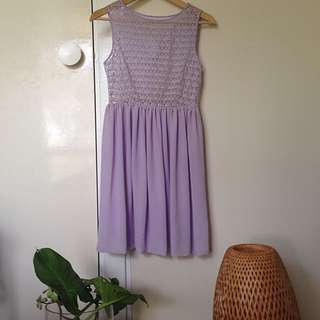 American Apparel Lavender Lace Dress
