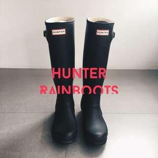 Hunter 霧面黑 長筒雨靴