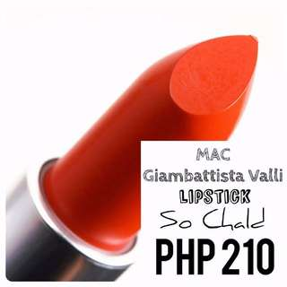 Lipstick | MAC | Giambattista Valli | So Chald