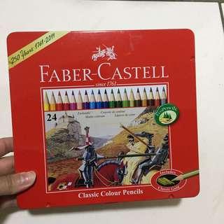 德國Faber-Castell輝柏 紅盒 24色油性彩色鉛筆