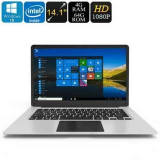Jumper EZbook 3 Windows 10 Laptop - Apollo Lake CPU, 14.1-Inch Full-HD Display, HDMI Out, 10000mAh, 4GB DDR3L RAM, 64GB Storage (CVAIE-140003)