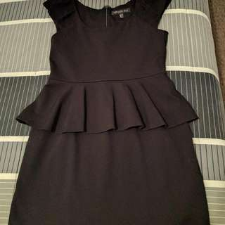 FOREVER NEW BLACK COCKTAIL DRESS SIZE 10-12