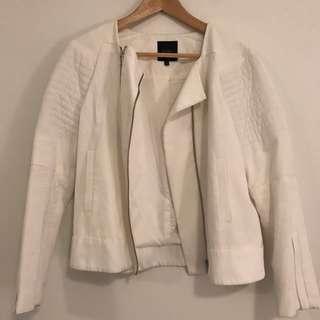 Saba White Biker Jacket