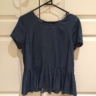 Forever New Denim Top - Size 8