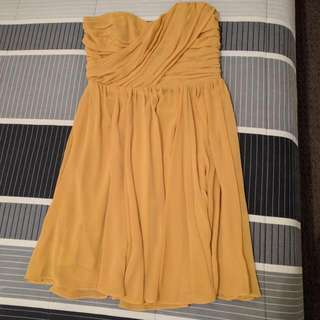 FORCAST MUSTARD COCKTAIL DRESS SIZE 12