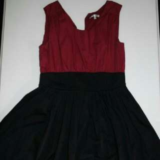 Black And Maroon Dress New Size 12