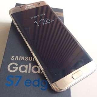 Samsung Galaxy S7 Edge 32gb Gold Emas Like New Mulus 100% Fullset Murah BU