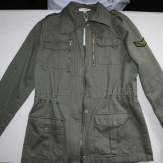 Green Parker Jacket From TEMT Size 14