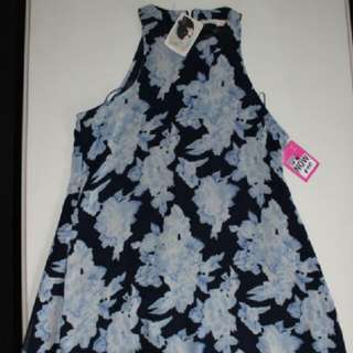 Blue Flower Dress Size 10 DONT ASK AMANDA Brand