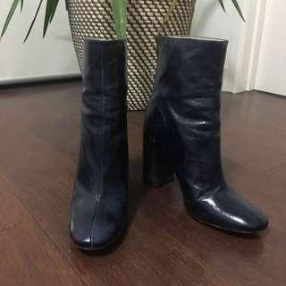 Zara Navy Blue Ankle Boot