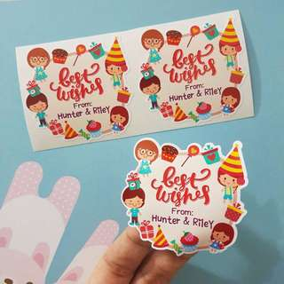 Customized and Personalized Sticker [Birthday / Wedding / greetings / personal]