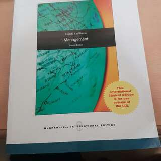 Kinicki/Williams Management (Fourth Edition)
