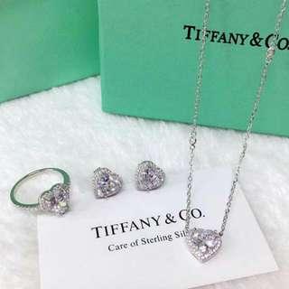 Tiffany Diamond Heart Set