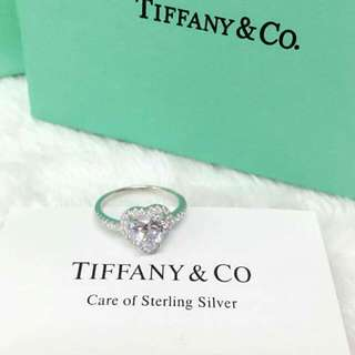 Tiffany Diamond Heart Ring Available Size 6,7,8,9