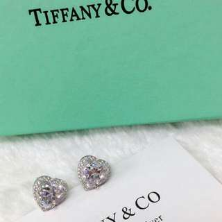Tiffany Diamond Heart Earings