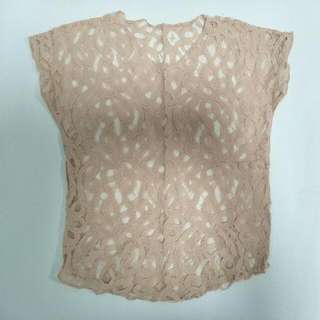 Sheer Pink Lace Top