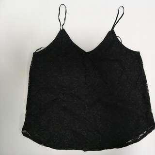 H&M Black Lace Tank Top