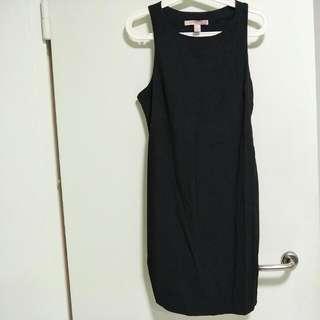 F21 Black Dress Cut Out Detail