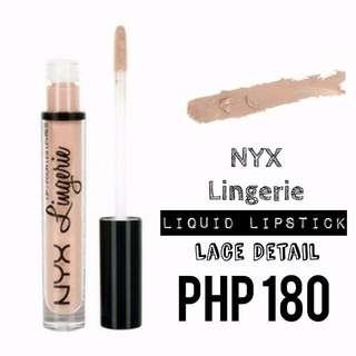 Liquid Lipstick | NYX | Lingerie | Lace Detail