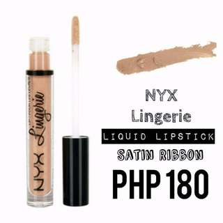 Liquid Lipstick | NYX | Lingerie | Satin Ribbon