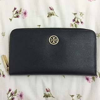 Authentic TORY BURCH Continental Wallet Purse Black
