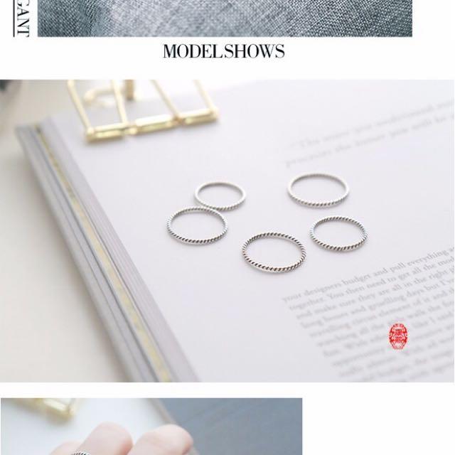 925純銀線戒 戒指