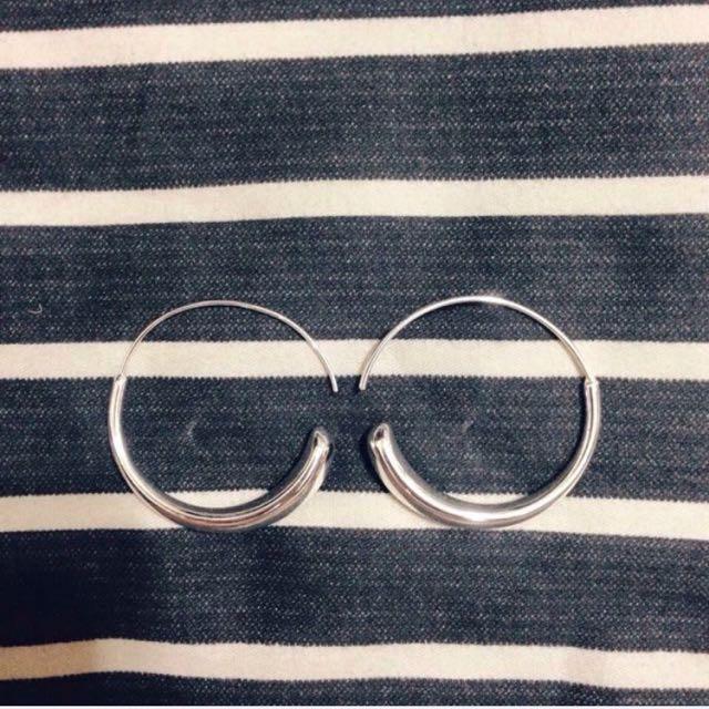 圓圈水滴耳環