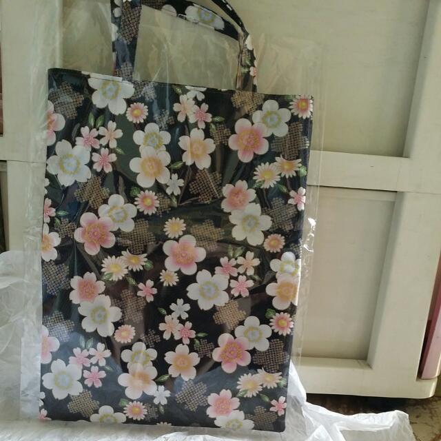 日本製華古紋手提袋