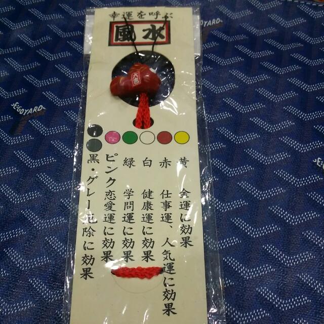 日本紅色金魚掛飾
